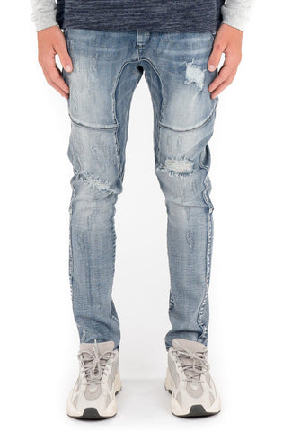 Kuwalla Shotgun Denim Trouser (Mid Blue)