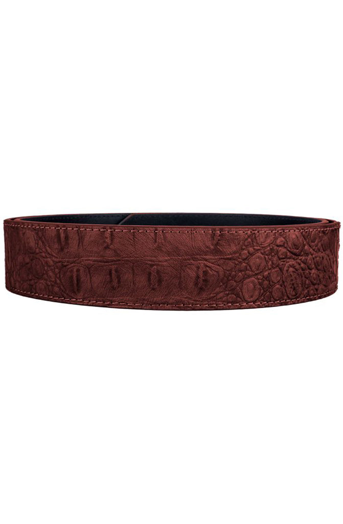Mint Brown Crocodile Leather Belt