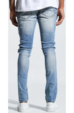 Embellish Bolt Standard Blue Silver Denim