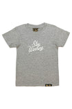 Stay Winning Youth Grey Heather Script Tee