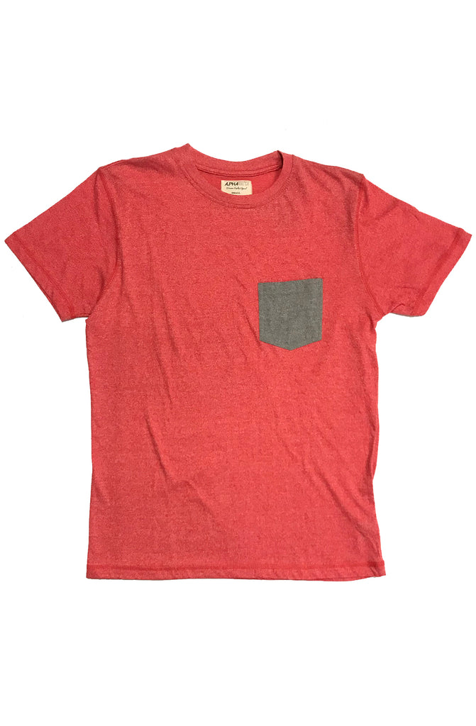 Alpha Beta Red Pocket Tee