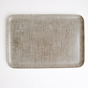 FOGLINEN WORK LINEN COATING TRAY L NATURAL - Eclectic Cool  - 1