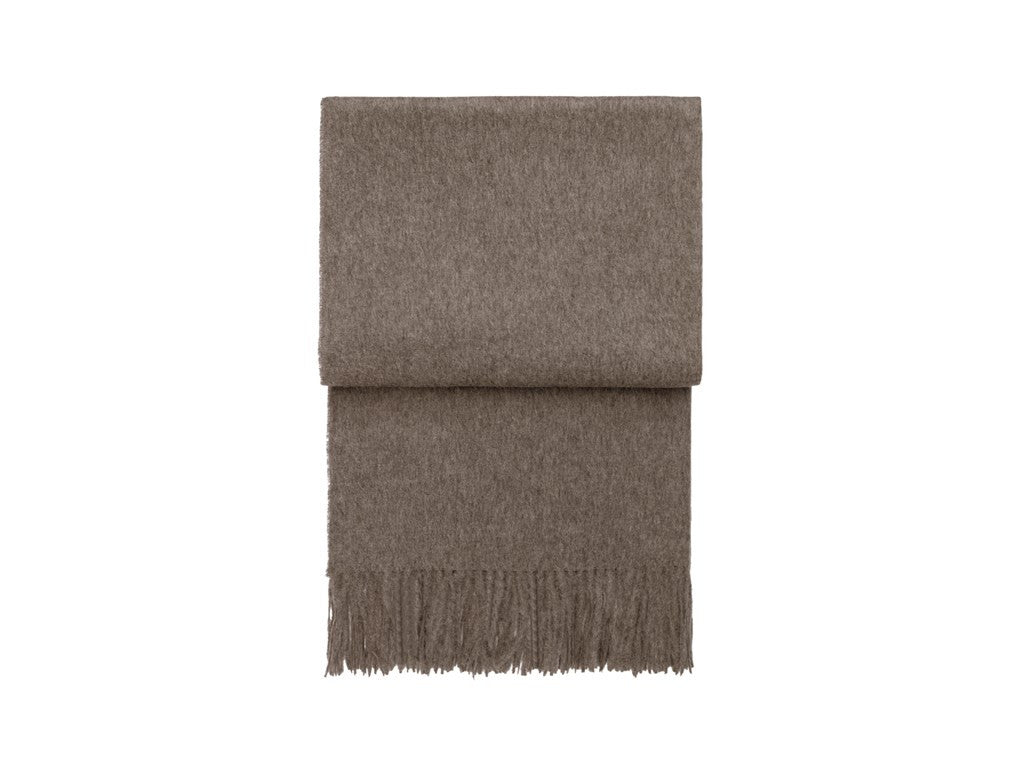 ELVANG CLASSIC PLAID THROW IN MOCCA