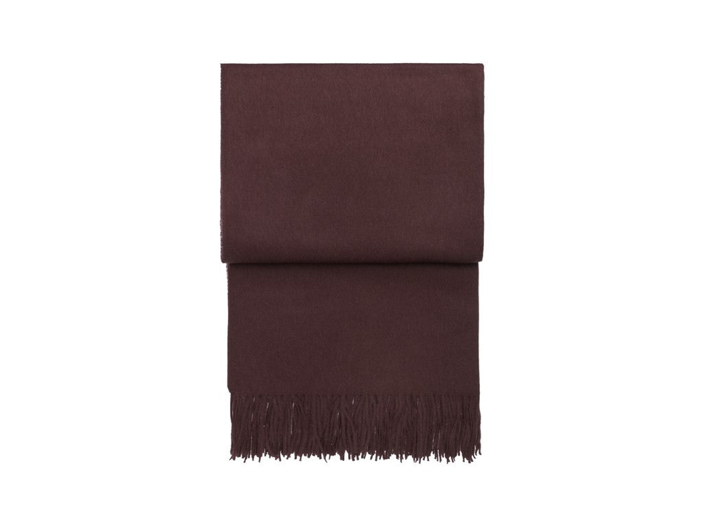 ELVANG CLASSIC PLAID THROW IN PLUM