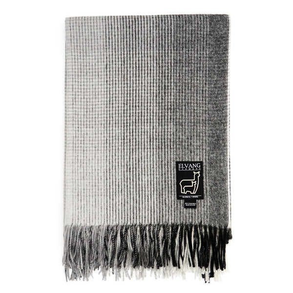 ELVANG HORIZON PLAID THROW - GREY - Eclectic Cool