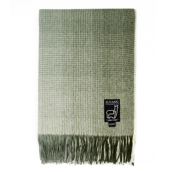 ELVANG HORIZON PLAID THROW-BOTANIC GREEN - Eclectic Cool