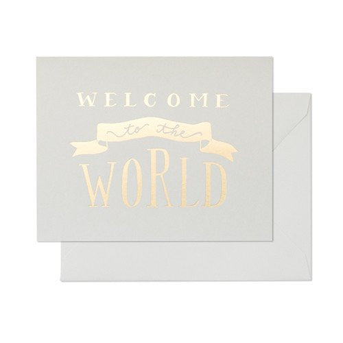 SUGAR PAPER WELCOME BABY CARD