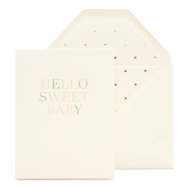 SUGAR PAPER HELLO SWEET BABY CARD - Eclectic Cool