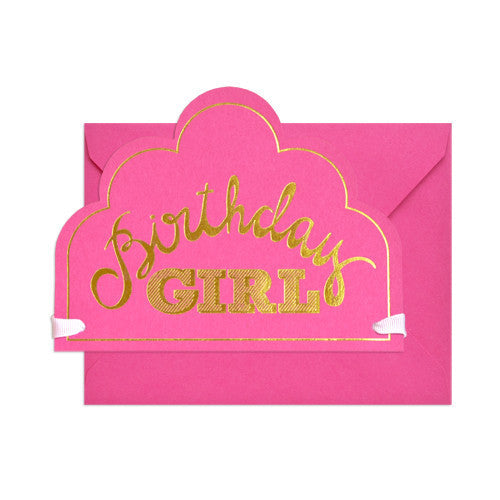 SUGAR PAPER BIRTHDAY GIRL CROWN CARD - Eclectic Cool