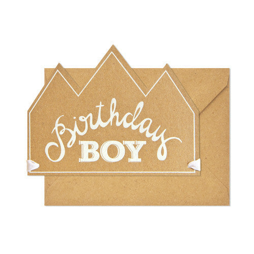 SUGAR PAPER BIRTHDAY BOY CROWN CARD - Eclectic Cool