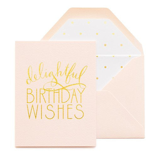 SUGAR PAPER DELIGHTFUL BIRTHDAY WISHES CARD