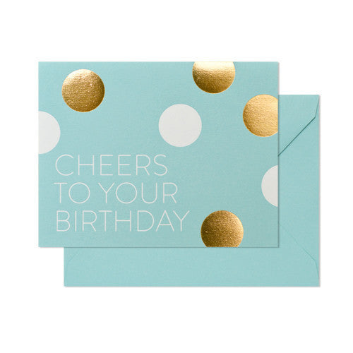 SUGAR PAPER BIRTHDAY CHEERS CARD - Eclectic Cool