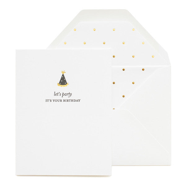 SUGAR PAPER PARTY HAT CARD - Eclectic Cool