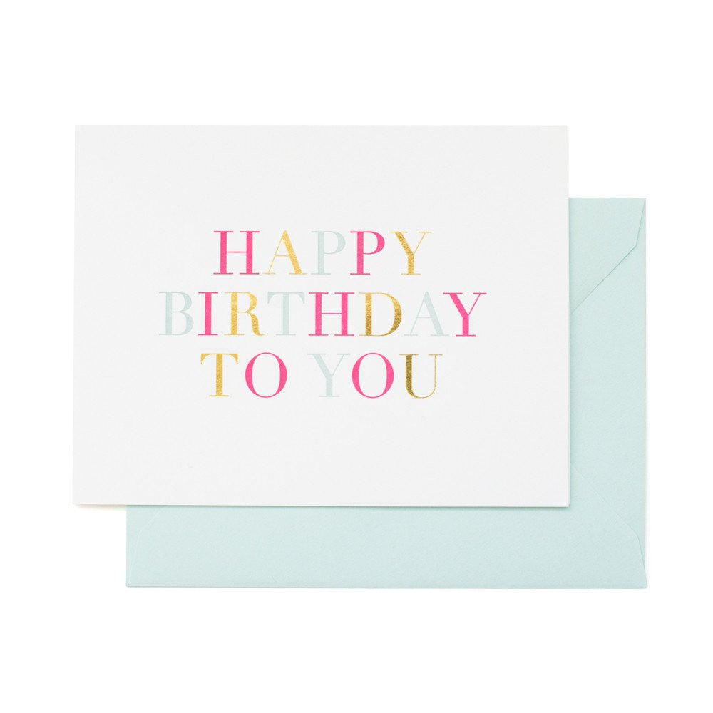SUGAR PAPER COLORFUL BIRTHDAY CARD