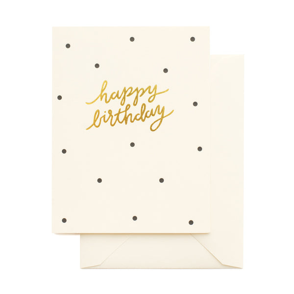 SUGAR PAPER DOTTY BIRTHDAY CARD - Eclectic Cool