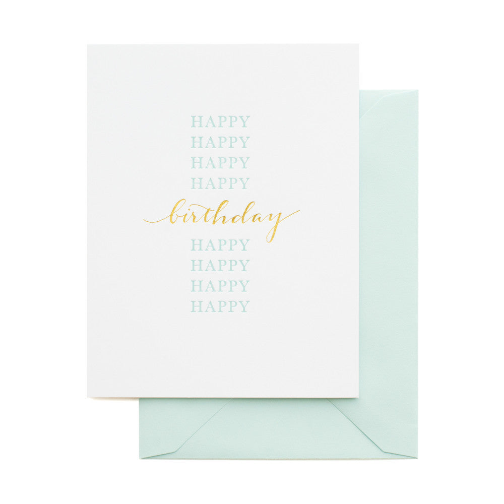 SUGAR PAPER HAPPY HAPPY BIRTHDAY CARD - Eclectic Cool