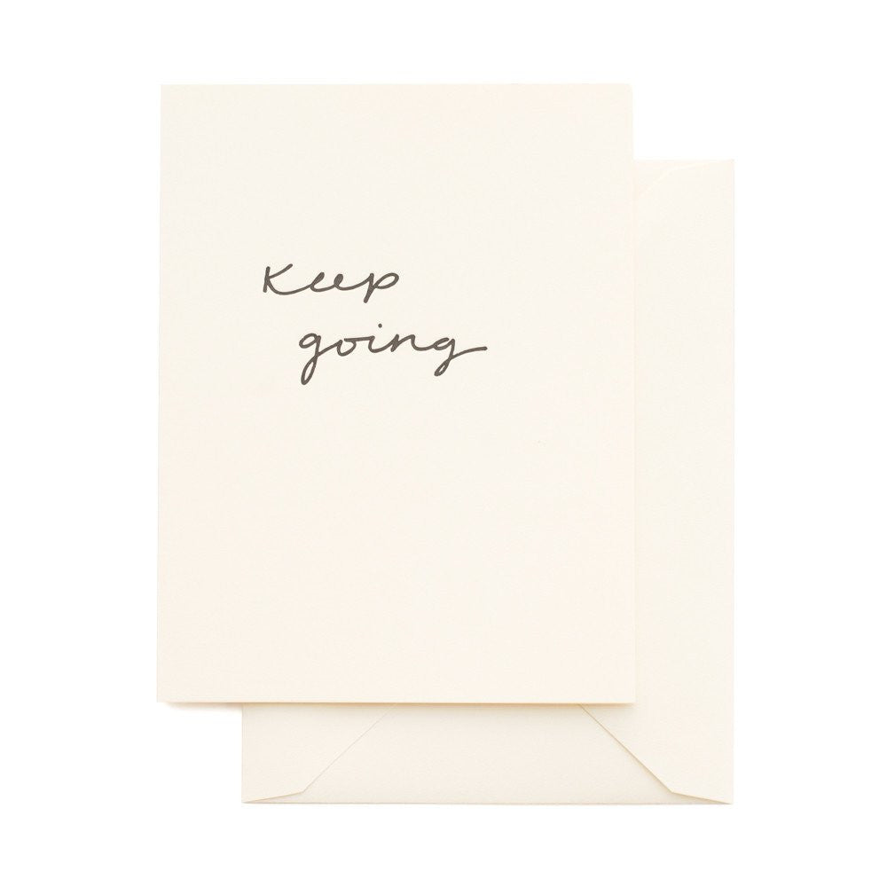 SUGAR PAPER KEEP GOING CARD