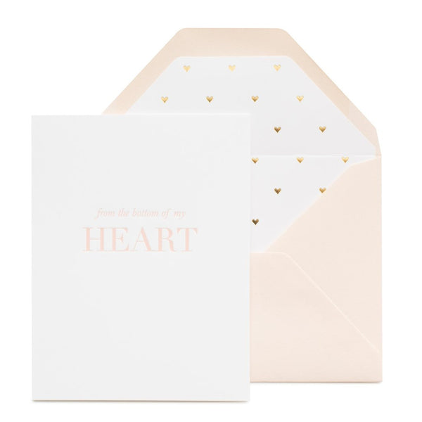SUGAR PAPER BOTTOM OF MY HEART CARD