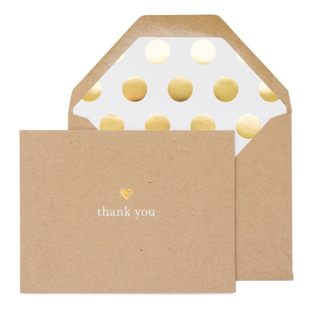 SUGAR PAPER THANK YOU HEART CARD