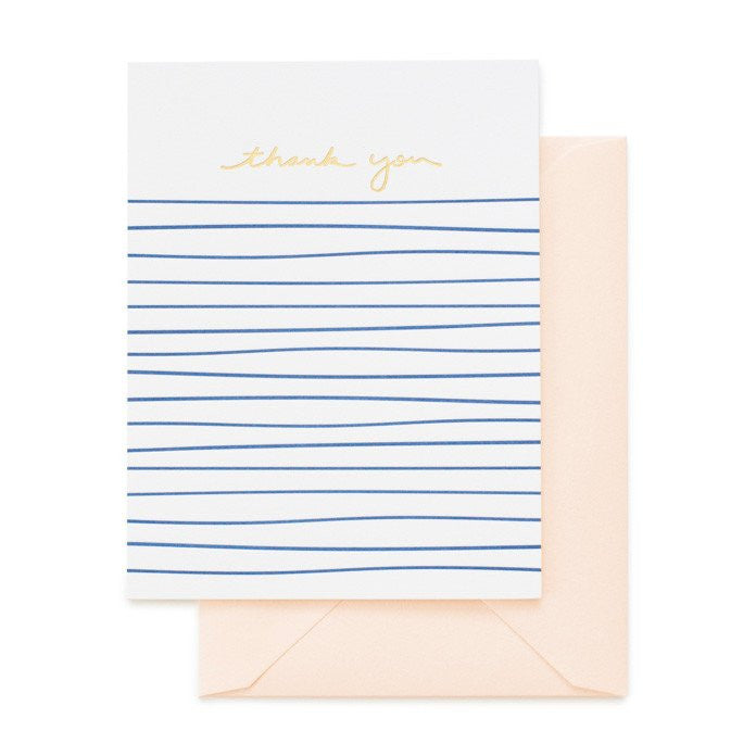 SUGAR PAPER PAINTED STRIPE THANK YOU CARD
