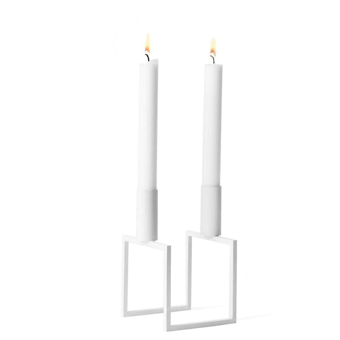By Lassen Line Candlestick, White - Eclectic Cool  - 1