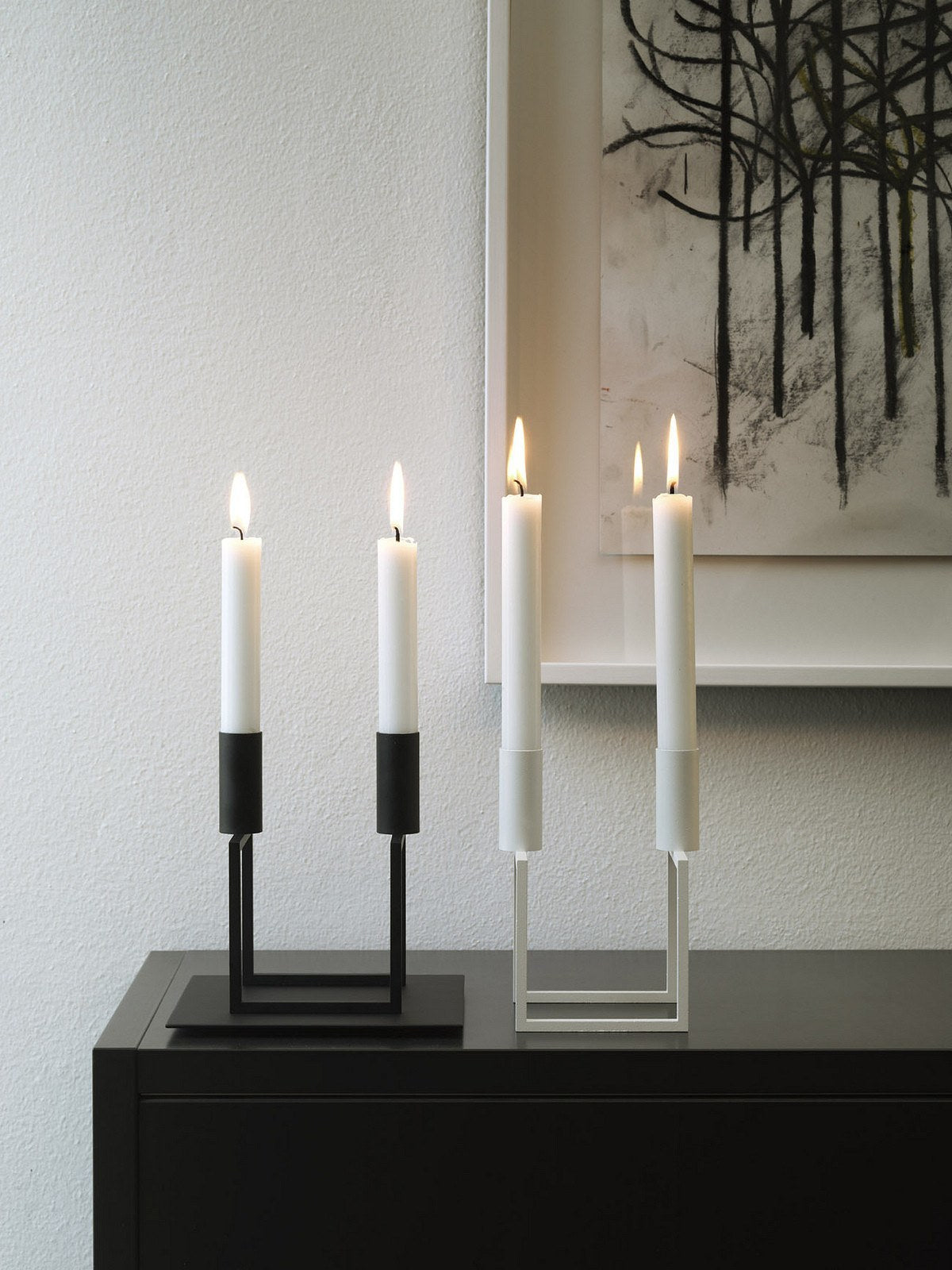 By Lassen Line Candlestick, White - Eclectic Cool  - 4