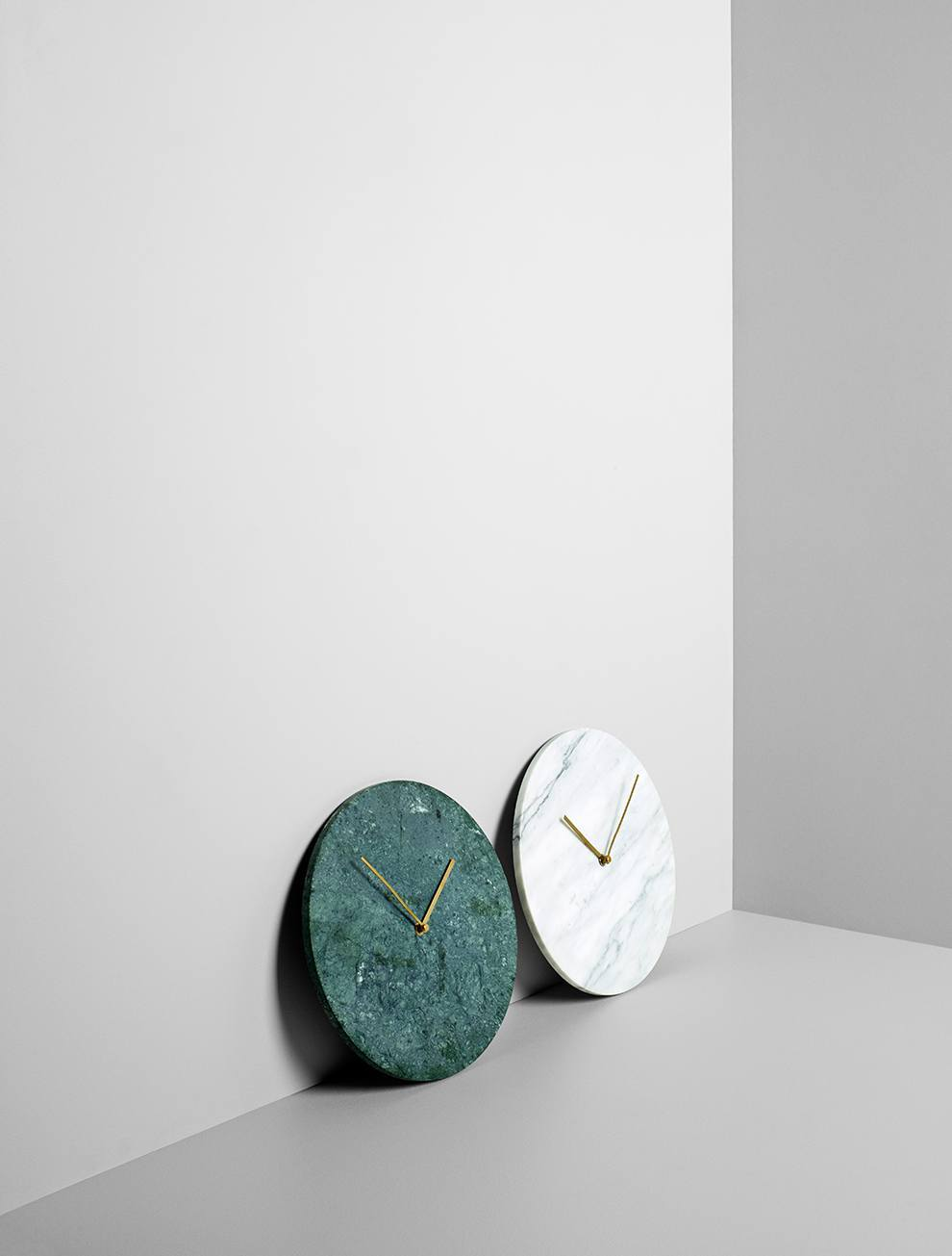 MENU Marble Wall Clock, Green - Eclectic Cool  - 5