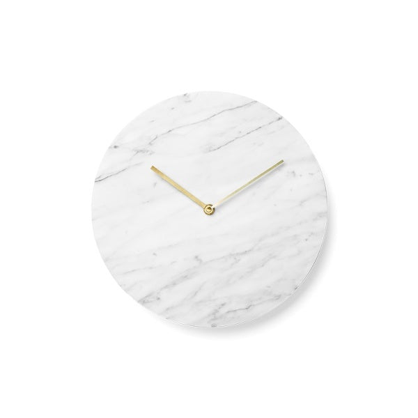 MENU Marble Wall Clock, White - Eclectic Cool  - 1