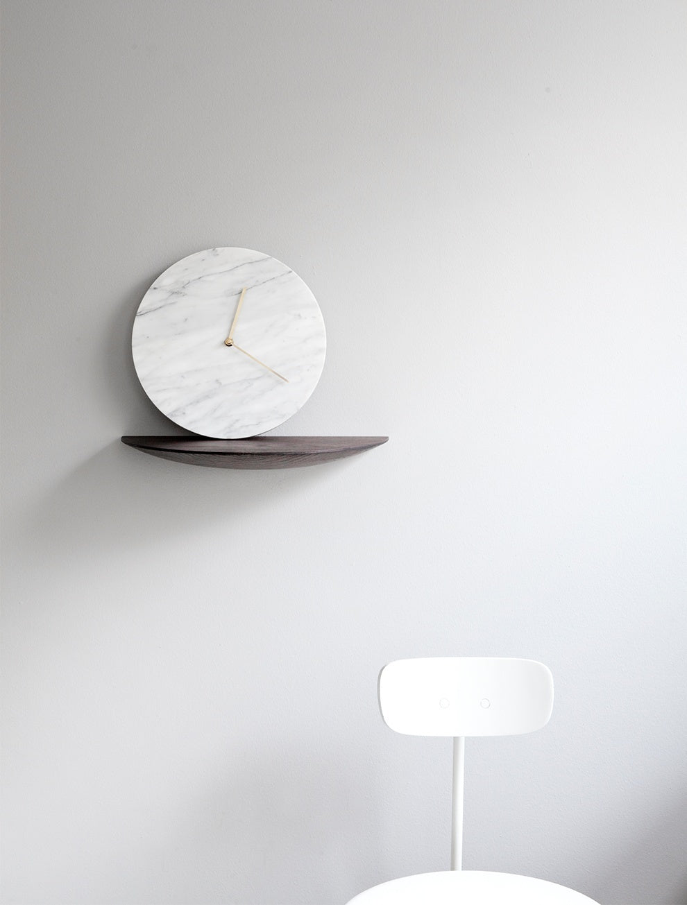 MENU Marble Wall Clock, White - Eclectic Cool  - 4