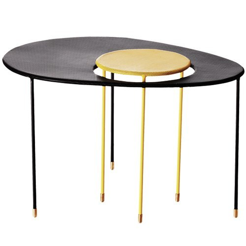 GUBI MATEGOT KANGOUROU TABLE IN BLACK AND YELLOW - Eclectic Cool  - 1