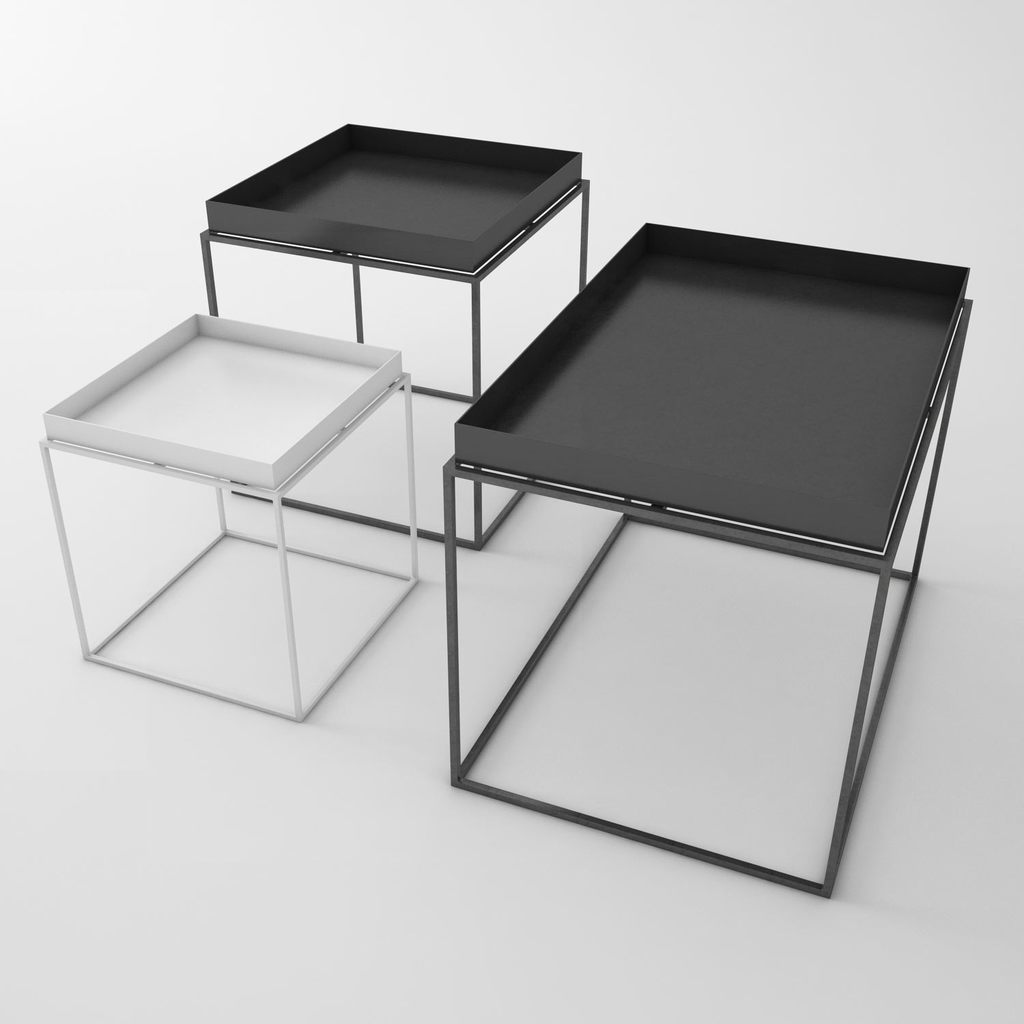 hay tray table black square 60x60xh39cm eclectic cool. Black Bedroom Furniture Sets. Home Design Ideas