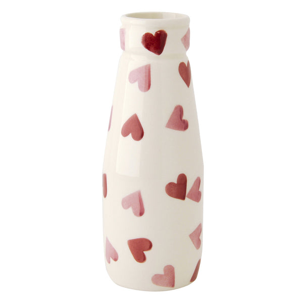 EMMA BRIDGEWATER Pink Hearts Small milk Bottle