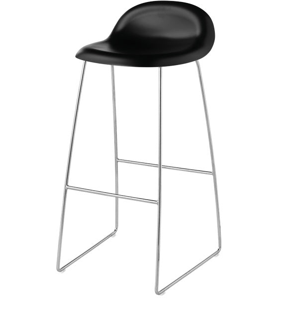 GUBI 3 STOOL-CHROME BASE - Eclectic Cool  - 1