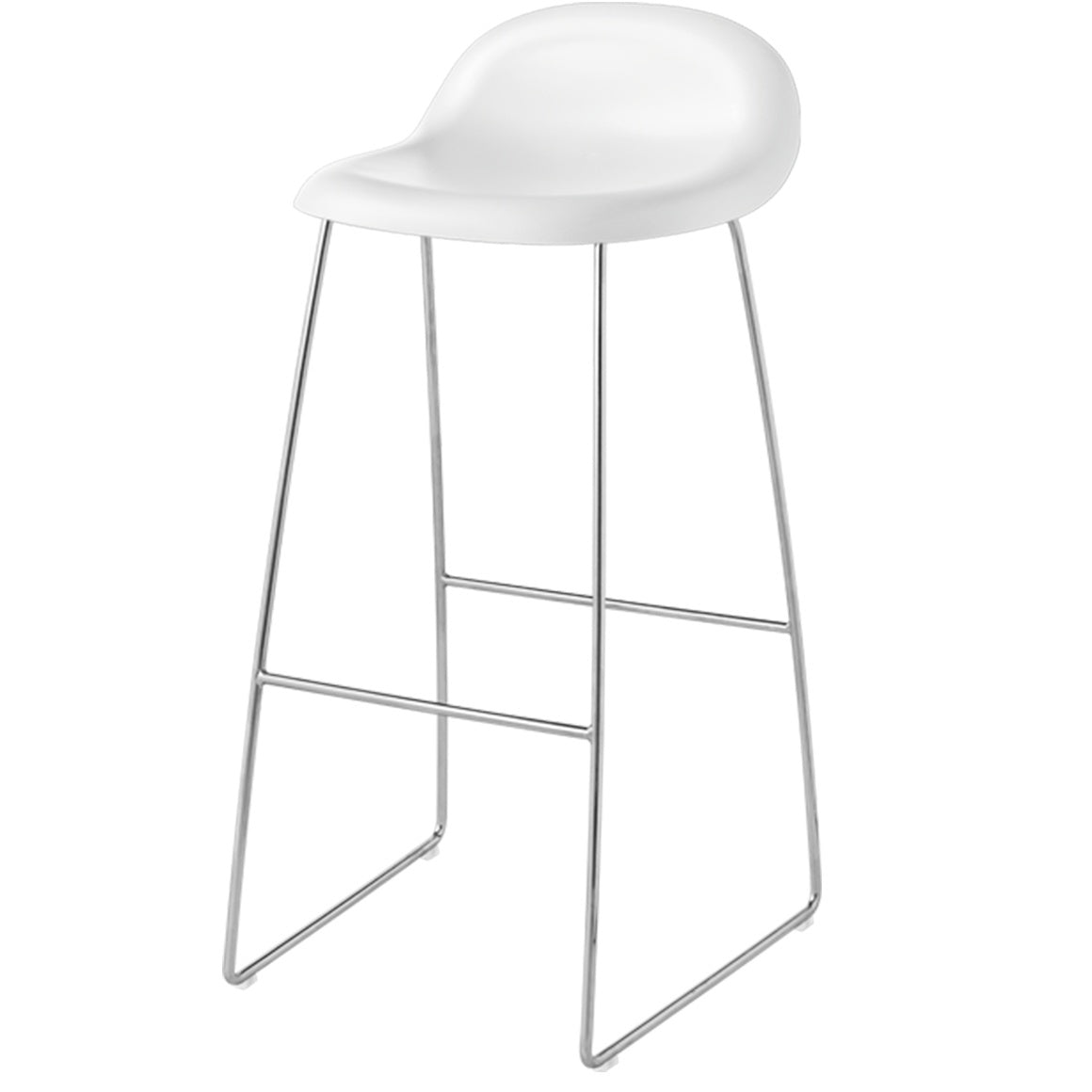 GUBI 3 STOOL-CHROME BASE - Eclectic Cool  - 5
