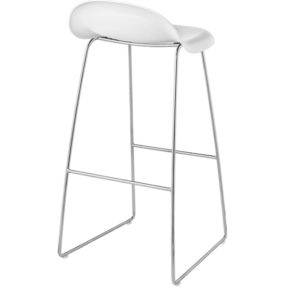 GUBI 3 STOOL-CHROME BASE - Eclectic Cool  - 6