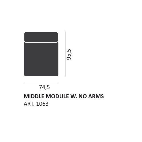 HAY MAGS NARROW MIDDLE MODULE 1063 - Eclectic Cool  - 2