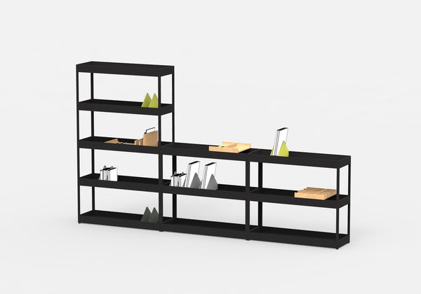 hay new order irregular open shelf with trays eclectic cool. Black Bedroom Furniture Sets. Home Design Ideas