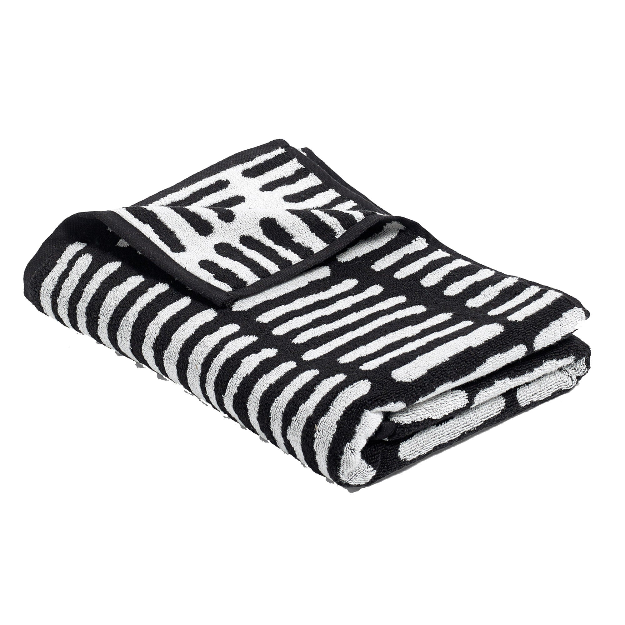 HAY HE/BLACK AND CREME BEACH TOWEL