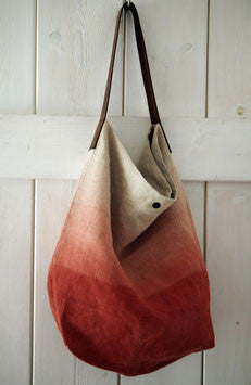 MARGARETE HAUSLER TOTE BAG ROSE/WHITE 24X35X10CM