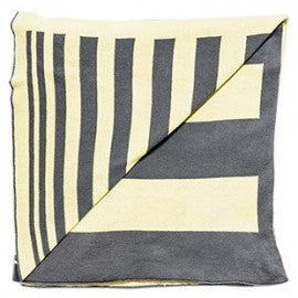 Kate & Kate Original Blanket in Yellow and Grey 110 x 150cm