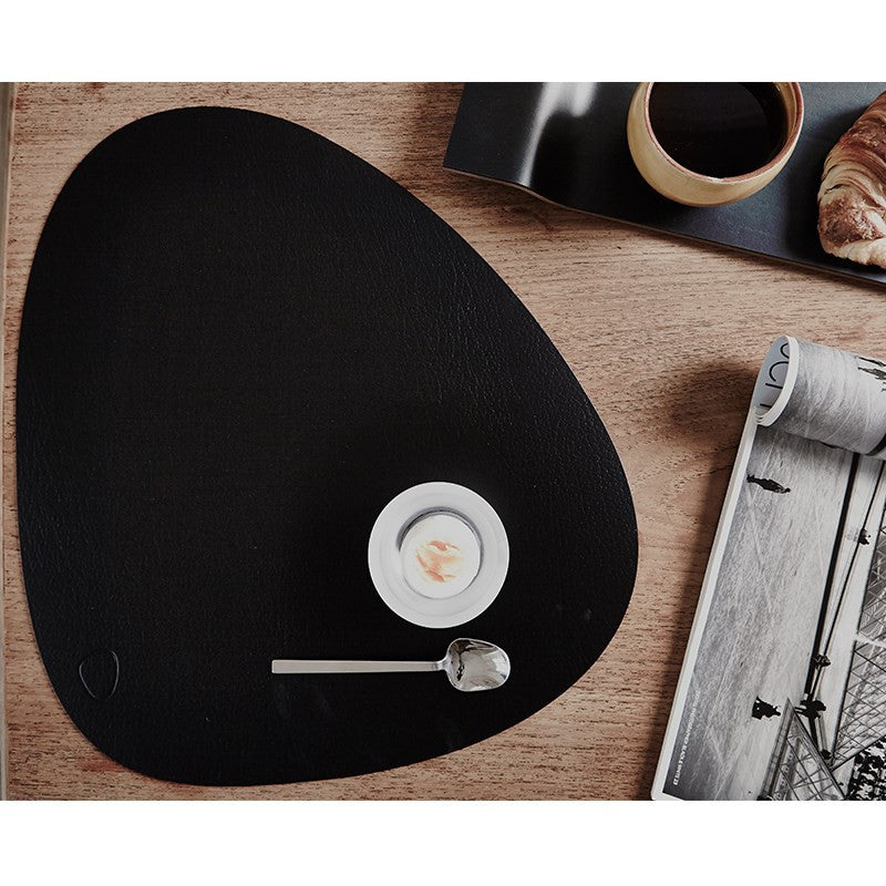 LINDDNA TABLE MAT CURVE L BLACK /BUFFALO