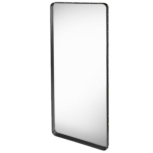 GUBI ADNET RECTANGULAR MIRROR IN BLACK LEATHER 180CM x 70CM - Eclectic Cool  - 1