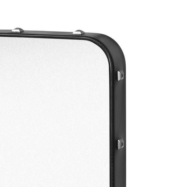 GUBI ADNET RECTANGULAR MIRROR IN BLACK LEATHER 180CM x 70CM - Eclectic Cool  - 3