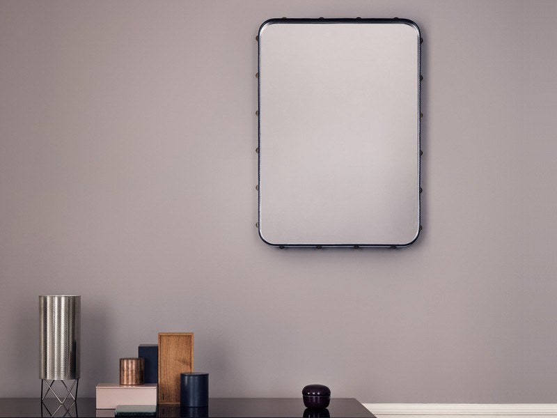 GUBI ADNET RECTANGULAR MIRROR IN BLACK LEATHER 180CM x 70CM - Eclectic Cool  - 5