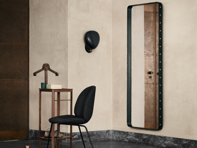 GUBI ADNET RECTANGULAR MIRROR IN BLACK LEATHER 180CM x 70CM - Eclectic Cool  - 6