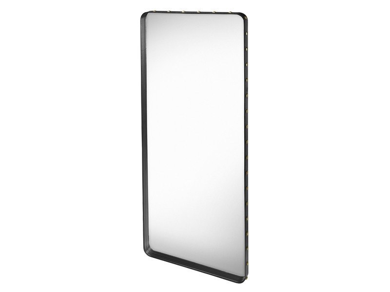 GUBI ADNET RECTANGULAR MIRROR IN BLACK LEATHER 180CM x 70CM - Eclectic Cool  - 7