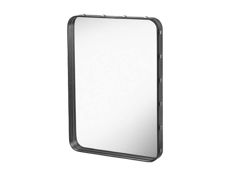 GUBI ADNET RECTANGULAR MIRROR IN BLACK LEATHER 180CM x 70CM - Eclectic Cool  - 9