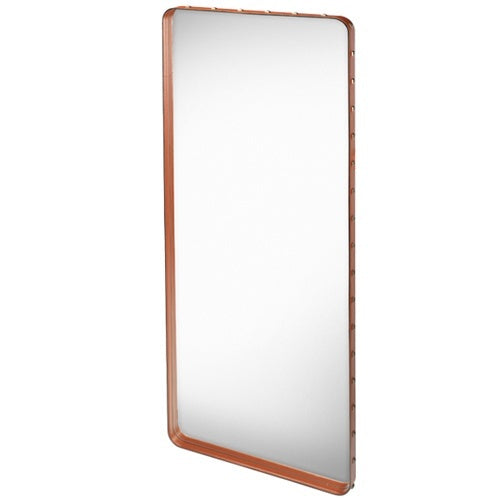GUBI ADNET RECTANGULAR MIRROR IN COGNAC LEATHER 180CM x 70CM - Eclectic Cool  - 1