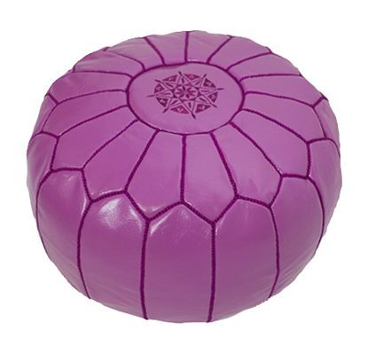 Morrocan pouf in Fuschia - Eclectic Cool  - 3