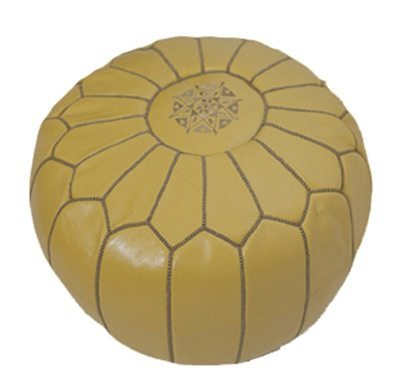 Morrocan Pouf in Yellow - Eclectic Cool  - 3